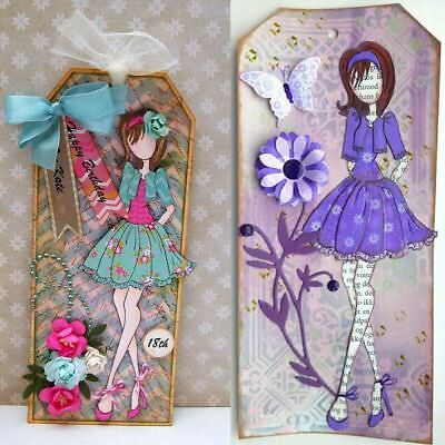 Girl Cutting Dies Stencil Embossing Scrapbooking Cards Photo Album Decor