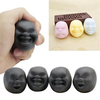Face Funny Squishy Ball Human Relieve Pressure Vent Wreak Reduce Anti Stress Toy
