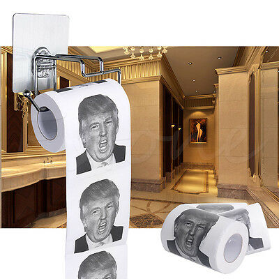 NEW Paper Donald Trump Toilet Paper 1 Roll Dump Take a with Trump Novelty AC