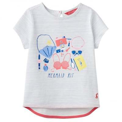 Joules Girl's Sky Blue and White Striped T-Shirt Mermaid YngPixie