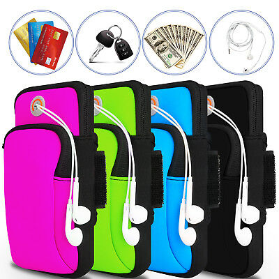 Sports Running Jogging Armband Pouch Bag Holder Case Cover For Cell Phone ≦6.2""
