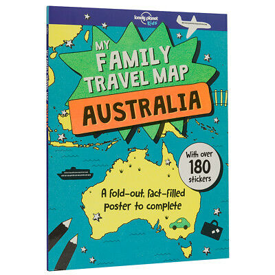 NEW Lonely Planet My Family Travel Map Australia