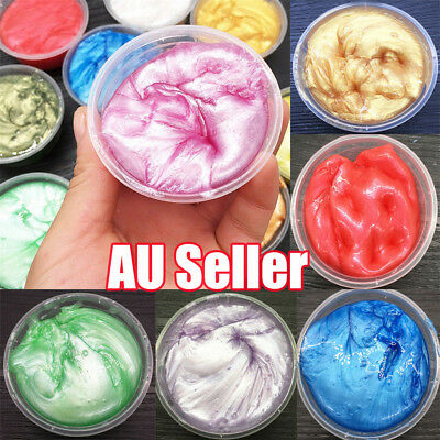 Clear Crystal Slime Clay Mud Shimmer Pearly-luster Slime Soft Puzzle Toy 50ml BK