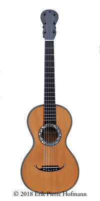Antique French guitar, Charotte-Millot c.1835, in great condition