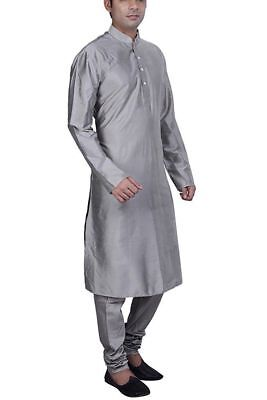Solid Men's 100% Cotton Kurta Plus Size Loose Fit XS-7XL { Many Color available}