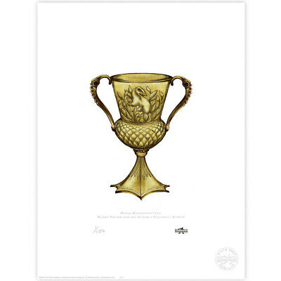 Harry Potter : Helga Hufflepuff's Cup Limited Edition Print from MinaLima