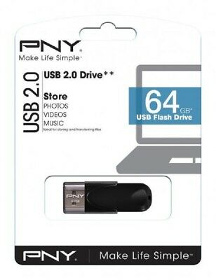 Genuine PNY HIGH SPEED 64gb USB 2 2.0 Flash Drive Memory Stick Pen Storage Drive