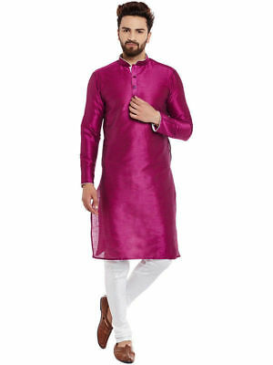 Men's 100% Cotton Shirt Top Indian Kurta Plus Size Punjabi Loose Fit S-7XL