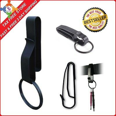 Heavy Duty Zak Tools Key Ring Belt Holder Spring Clip Black Secure Keys Tactical