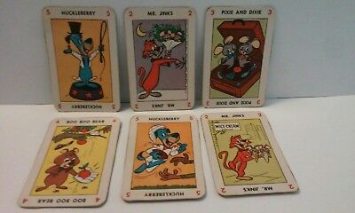 1959 KELLOGGS HUCKLEBERRY HOUND FUN CARD CEREAL BOX PREMIUM CUT OUTS (6) Mr Jink