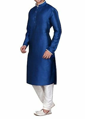 White Cotton Kurta Pajama For Men Yoga Indian Clothing _01