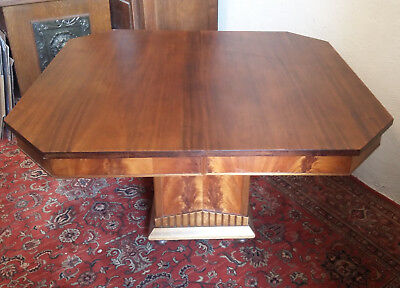 Superb table period Art deco walnut stamp THEVENIN ELDER cabinetmaker Moulins