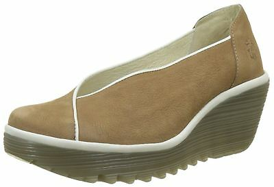 Fly london Yuca839fly Sand Womens Leather Wedge Shoes