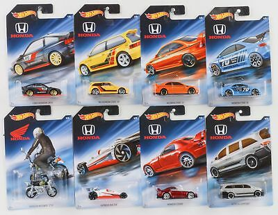 Honda Set 8 cars  70th anniversary CR-X  Civic S2000 1:64 Hot Wheels FKD22 NEU