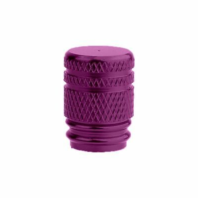 Oxford Lightweight Anodised Alloy Round Tyre Valve Caps - Pair - Purple OF890 T