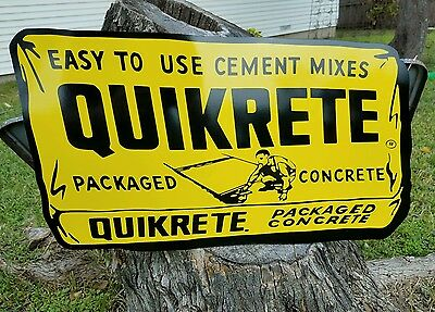 Antique Vintage Old Style Quikrete Sign