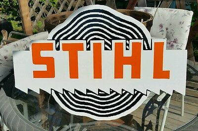 Antique Style Stihl Sign Vintage Look Flat Letters