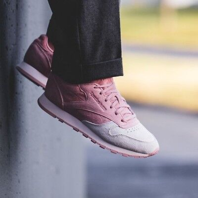 657cb046115c25 WOMEN S SHOES SNEAKERS REEBOK CLASSIC LEATHER NBK Size 7 with Box Pink and  White