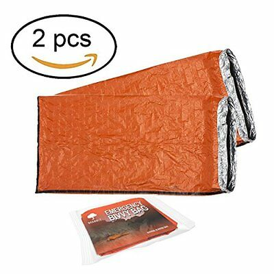 2 Pack - Bramble Emergency Bivvy Bag - Survival Sleeping Bag  Bushcraft  therm