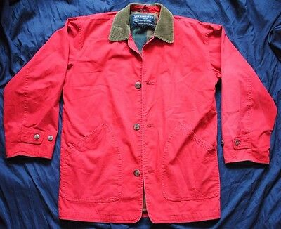 Vintage Abercrombie & Fitch Country Clothes Flannel Lined Barn Coat Size Small