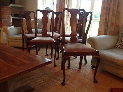 Six Mahogany Dining Chairs, Victorian, solid and in good condition