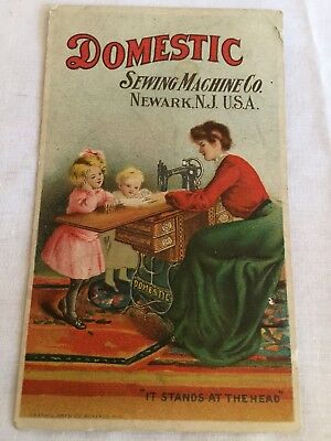 Antique Victorian Trade Card, Domestic Sewing Machine Co., Advertising, MD USA