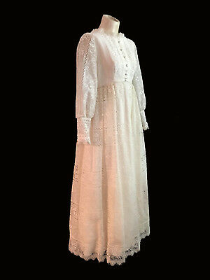 VINTAGE 1960's EMMA DOMB LACE WEDDING, PARTY DRESS SMALL