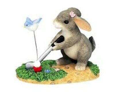 Charming Tails By Dean Griff - Nib - Keep Your Eye On The Birdie (Bunny / Golf)