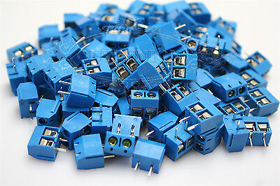 20PCS 5mm 2-Pin Plug-in Screw Terminal Block Connector Pitch Panel PCB Mount