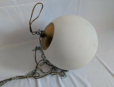 Large Vintage 60 S 70 Hanging Globe Light Fixture Retro Hippy Ball Orb