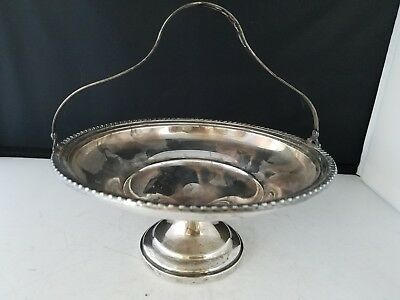 """Marked <m> STERLING Reinforced with cement Caddy Basket # 0269 6.5"""" d 3"""" h 123g"""