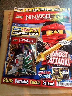 Lego NINJAGO Issue 8 Magazine + Limited Edition Catapult Toy + 2 Posters