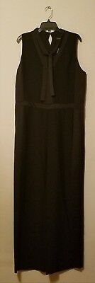 65878a68282 NWOT BANANA REPUBLIC Womens Tie-Neck Tuxedo Jumpsuit Black sz 10 ...