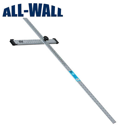 "Ox Pro 48"" Adjustable Drywall T-Square - Foldable, Adjusts to Any Angle"