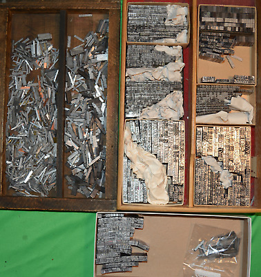 Large Collection Letterpress Type Multiple Sets Very Clean Barnhart And More!