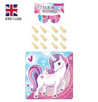 Sainsbury/'s Pin The Tail On The Unicorn Princess Party Game for Girls New