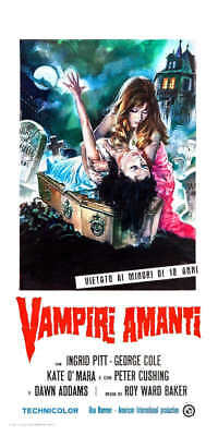 1970 THE VAMPIRE LOVERS VINTAGE HORROR FILM MOVIE POSTER PRINT 24x16 9MIL PAPER