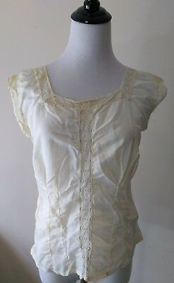 Antique Edwardian Victorian Lace Satin Corset Cover Camisole Underwear