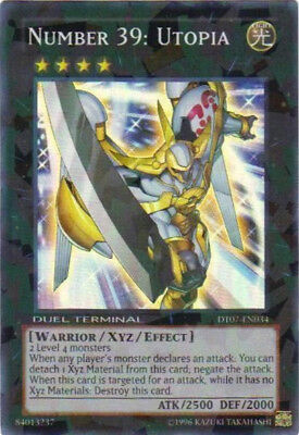 YuGiOh Number 39: Utopia - DT07-EN034 - Super Parallel Rare - Duel Terminal Near