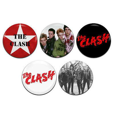 5x The Clash Band Punk 25mm / 1 Inch D Pin Button Badges