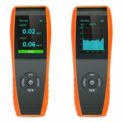 Indoor Air Quality Detector PM2.5/PM10/HCHO/AQI/Particles/TVOC Air Quality Meter