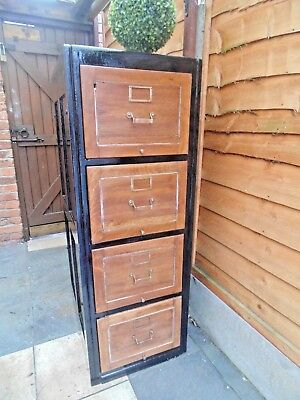 Edwardian Oak  Filing Cabinet / Makers Whitby Stamped Dated 1906