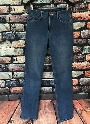 NYDJ Not Your Daughters Jeans Women's Size 6 Straight Leg Lift Tuck Light Wash