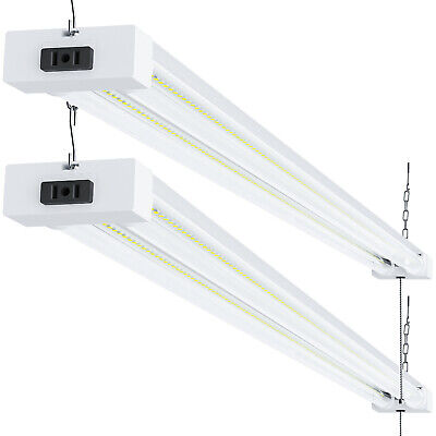 "2 Pack - Sunco 48"" Shop Light Utility Led 40W (260W) 5000K (Daylight) Clear"