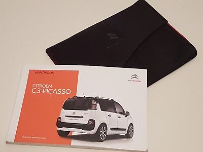 genuine citroen c3 picasso owners manual user guide handbook 2014 rh picclick co uk owners manual citroen c4 grand picasso owners manual citroen xsara picasso