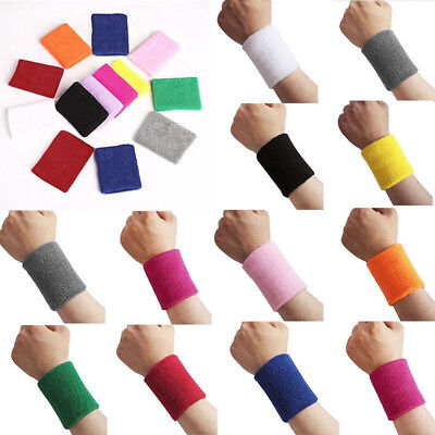 LC_ Unisex Sports Tennis Badminton Sweat Absorb Band Wrist Protector Wristband