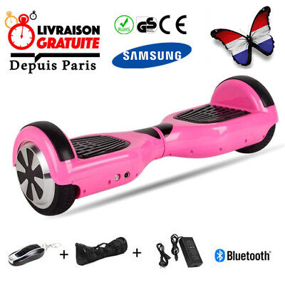 """Hoverboard 6.5"""" Rose overboard scooter Bluetooth+Sac+Télécommande avec Antichoc"""