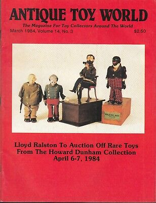 Antique Toy World V14 #3 1984 Collecting/research Toys-Howard Dunham...fn/vf