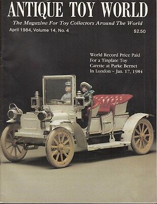 Antique Toy World V14 #4 1984 Collecting/research Toys-Record Price...fn/vf
