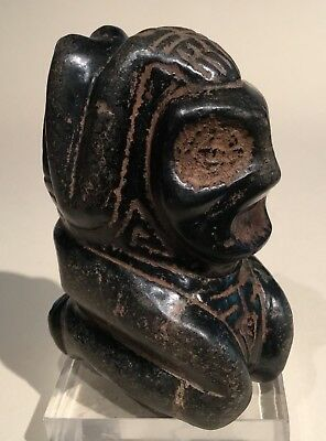 Taino Heavy Black Stone Reverent Anthropic Cemi. PreColumbian